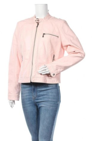 Γυναικείο δερμάτινο μπουφάν Laura Torelli, Μέγεθος L, Χρώμα Ρόζ , Δερματίνη, Τιμή 17,73€