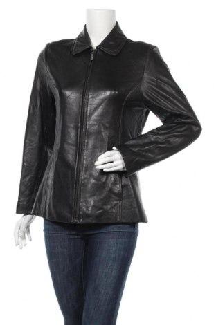 Γυναικείο δερμάτινο μπουφάν Liz Claiborne, Μέγεθος S, Χρώμα Μαύρο, Γνήσιο δέρμα, Τιμή 12,73€