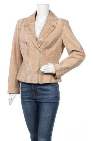 Дамско кожено яке Madeleine, Размер M, Цвят Бежов, Естествена кожа, Цена 32,55лв.