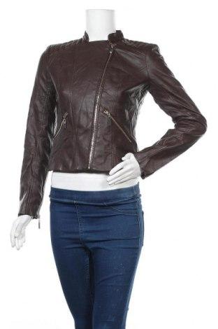 Дамско кожено яке New York & Company, Размер XS, Цвят Кафяв, Еко кожа, Цена 16,79лв.