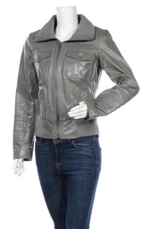 Γυναικείο δερμάτινο μπουφάν ONLY, Μέγεθος M, Χρώμα Γκρί, Γνήσιο δέρμα, Τιμή 34,62€