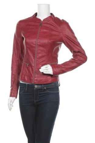 Дамско кожено яке Orsay, Размер S, Цвят Червен, Еко кожа, Цена 31,08лв.