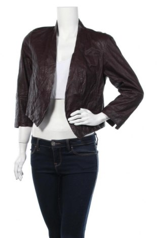 Γυναικείο δερμάτινο μπουφάν Rachel Roy, Μέγεθος L, Χρώμα Βιολετί, Γνήσιο δέρμα, Τιμή 26,89€