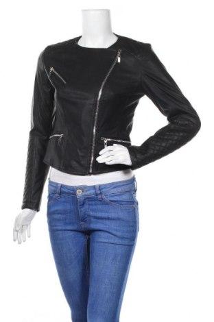 Дамско кожено яке Reserved, Размер S, Цвят Черен, Еко кожа, Цена 36,00лв.