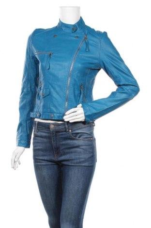 Γυναικείο δερμάτινο μπουφάν Softy, Μέγεθος M, Χρώμα Μπλέ, Δερματίνη, Τιμή 21,82€