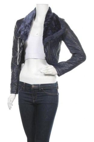 Дамско кожено яке Valley Girl, Размер M, Цвят Син, Еко кожа, текстил, Цена 67,20лв.