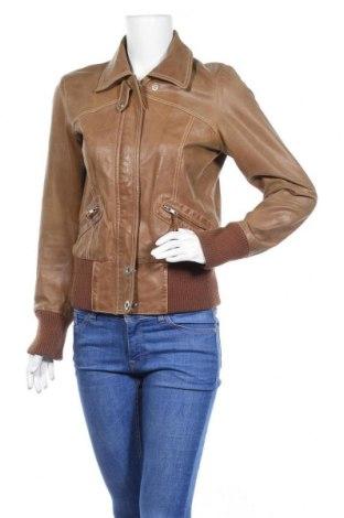 Γυναικείο δερμάτινο μπουφάν Vero Moda, Μέγεθος M, Χρώμα Καφέ, Γνήσιο δέρμα, Τιμή 15,23€