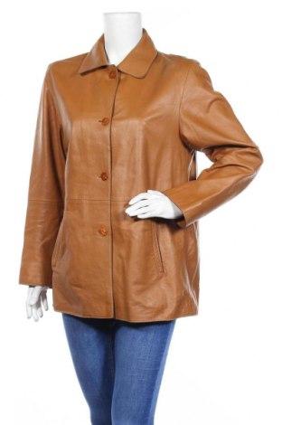 Дамско кожено яке Vittoria Verani, Размер XL, Цвят Кафяв, Естествена кожа, Цена 29,40лв.