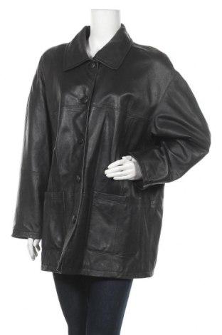 Дамско кожено яке Vunic, Размер L, Цвят Черен, Естествена кожа, Цена 12,56лв.
