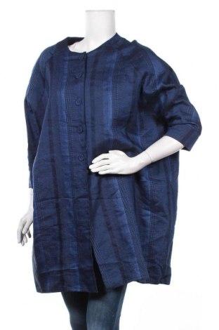 Дамско палто, Размер M, Цвят Син, 70% памук, 30% лен, Цена 14,49лв.