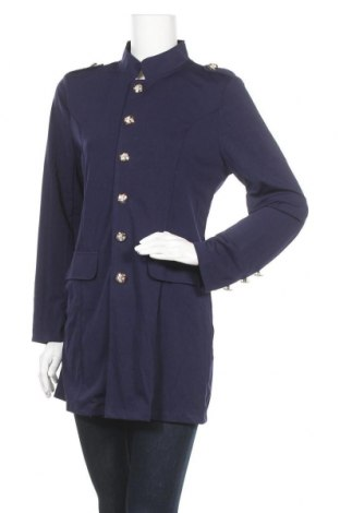Дамско палто, Размер L, Цвят Син, 95% полиестер, 5% еластан, Цена 11,81лв.
