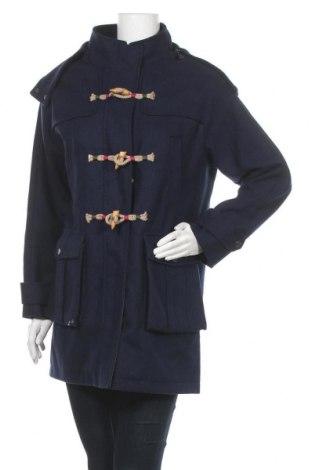 Дамско палто El Ganso, Размер M, Цвят Син, 60% вълна, 35% полиестер, 5% други нишки, Цена 128,37лв.