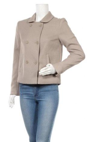 Дамско палто H&M Divided, Размер M, Цвят Бежов, 68% полиестер, 31% вискоза, 1% еластан, Цена 26,00лв.