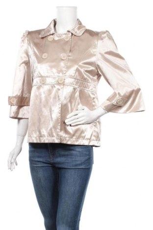 Γυναικείο μπουφάν Miss Swan, Μέγεθος L, Χρώμα Χρυσαφί, 45% πολυεστέρας, 55% βαμβάκι, Τιμή 3,91€