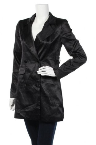 Дамско палто Nasty Gal, Размер S, Цвят Черен, Полиестер, Цена 11,81лв.