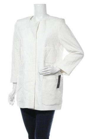 Дамско палто Tahari, Размер L, Цвят Бял, 75% полиестер, 20% вискоза, 5% еластан, Цена 44,36лв.