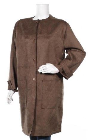 Дамско палто Zara, Размер XL, Цвят Зелен, 90% полиестер, 10% еластан, Цена 40,16лв.