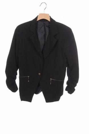Дамско сако, Размер XS, Цвят Черен, 93% полиестер, 7% еластан, Цена 8,09лв.