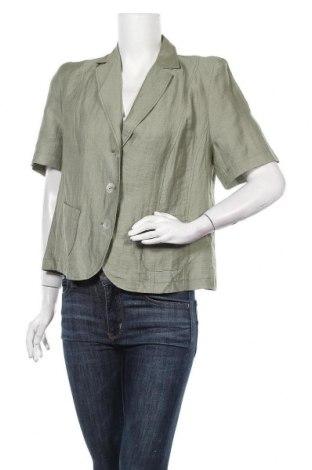 Дамско сако Barbara Lebek, Размер L, Цвят Зелен, 50% лен, 38% вискоза, 12% полиамид, Цена 9,98лв.