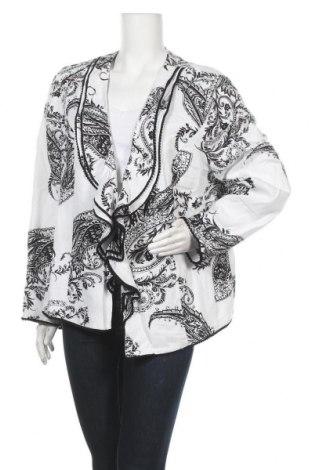 Дамско сако Chico's, Размер XL, Цвят Бял, 53% лен, 47% вискоза, Цена 12,08лв.