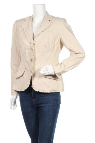 Дамско сако Fabiani, Размер L, Цвят Бежов, 50% памук, 46% полиамид, 4% метални нишки, Цена 8,09лв.