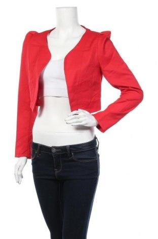 Дамско сако Forcast, Размер M, Цвят Червен, 79% полиестер, 18% памук, 3% еластан, Цена 11,55лв.