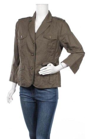 Дамско сако G.W., Размер M, Цвят Зелен, 55% лен, 45% памук, Цена 9,45лв.