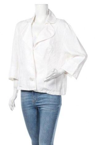 Дамско сако G.W., Размер XL, Цвят Бял, Лен, Цена 44,10лв.