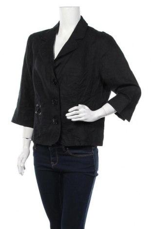 Дамско сако G.W., Размер L, Цвят Черен, Лен, Цена 13,86лв.