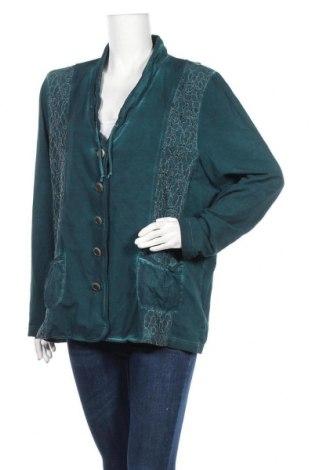 Γυναικείο σακάκι Gina Laura, Μέγεθος XL, Χρώμα Πράσινο, 95% βαμβάκι, 5% ελαστάνη, Τιμή 6,37€