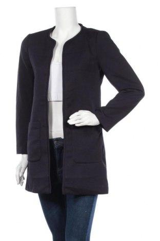 Дамско палто H&M, Размер S, Цвят Син, 97% полиестер, 3% еластан, Цена 37,80лв.