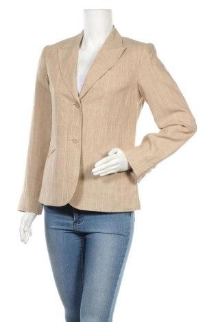 Дамско сако Hennes, Размер M, Цвят Бежов, Лен, Цена 24,10лв.