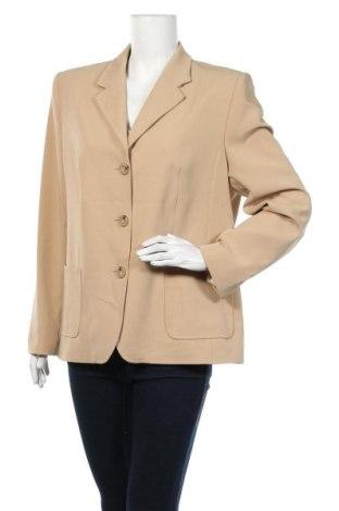 Дамско сако Laura Lebek, Размер XL, Цвят Бежов, 96% полиестер, 4% еластан, Цена 13,70лв.