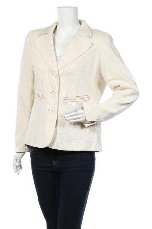 Γυναικείο σακάκι Malva, Μέγεθος L, Χρώμα Εκρού, 40% βαμβάκι, 40% μοντάλ, 20% λινό, Τιμή 9,29€