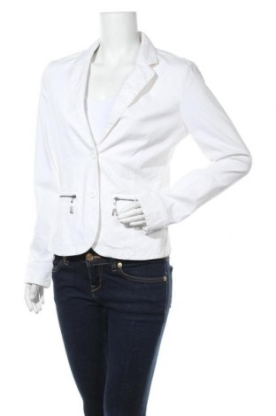 Дамско сако Mitch & Co., Размер M, Цвят Бял, 98% памук, 2% еластан, Цена 11,76лв.
