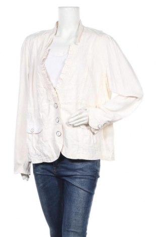 Дамско сако Ms Mode, Размер 3XL, Цвят Екрю, 52% лен, 48% вискоза, Цена 22,31лв.