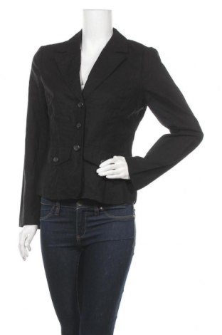 Дамско сако Ms Mode, Размер S, Цвят Черен, 55% лен, 45% памук, Цена 7,09лв.