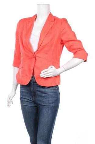 Γυναικείο σακάκι Patrice Breal, Μέγεθος M, Χρώμα Πορτοκαλί, Λινό, Τιμή 13,64€
