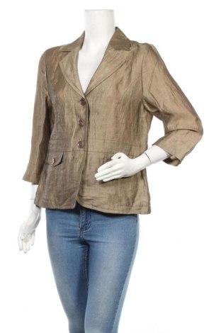 Γυναικείο σακάκι Yorn, Μέγεθος L, Χρώμα  Μπέζ, 90% λινό, 10% πολυαμίδη, Τιμή 6,14€