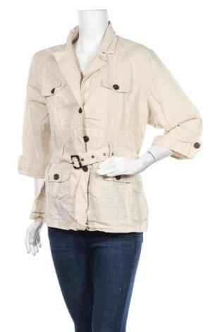 Дамско яке, Размер XXL, Цвят Бежов, 55% лен, 45% памук, Цена 9,45лв.