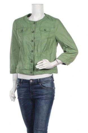 Дамско яке Bianca, Размер M, Цвят Зелен, 50% памук, 46% полиамид, 4% еластан, Цена 31,92лв.