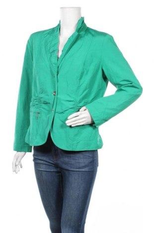 Дамско яке Canda, Размер L, Цвят Зелен, 54% полиестер, 42% памук, 4% метални нишки, Цена 8,40лв.