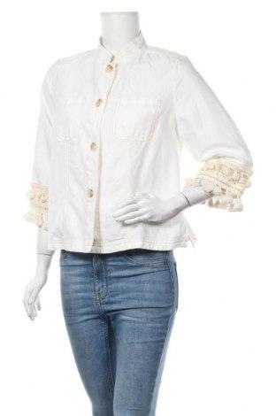 Дамско яке Chico's, Размер M, Цвят Бял, 55% лен, 45% памук, Цена 54,34лв.