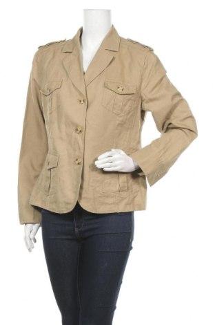 Дамско яке G.W., Размер L, Цвят Бежов, 55% лен, 45% памук, Цена 16,80лв.