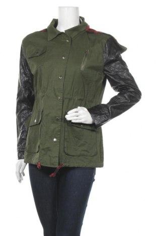 Дамско яке Layers, Размер M, Цвят Зелен, Памук, полиестер, еко кожа, Цена 9,45лв.