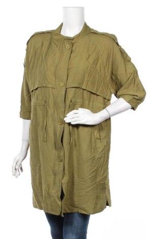 Дамско яке Olla Oh, Размер L, Цвят Зелен, 65% полиестер, 35% памук, Цена 36,91лв.