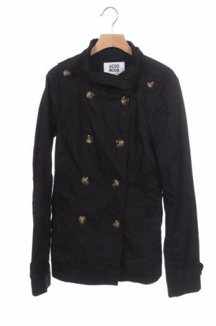 Дамски шлифер Vero Moda, Размер XS, Цвят Черен, 65% полиестер, 35% памук, Цена 11,03лв.