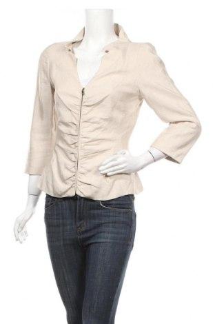 Дамско яке Zara, Размер S, Цвят Бежов, 49% вискоза, 46% лен, 5% полиамид, Цена 46,20лв.