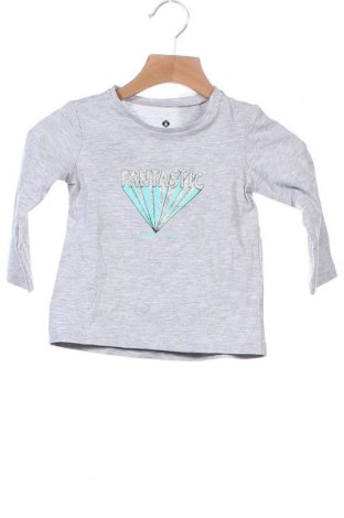 Детска блуза Grain De Ble, Размер 12-18m/ 80-86 см, Цвят Сив, Памук, Цена 12,60лв.