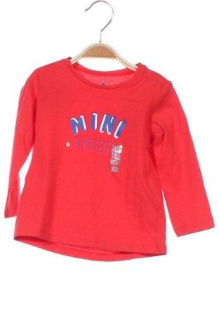 Детска блуза Grain De Ble, Размер 12-18m/ 80-86 см, Цвят Червен, Памук, Цена 12,60лв.